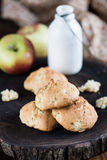 Cookies with apples Stock Photos