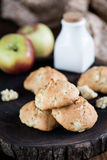 Cookies with apples Royalty Free Stock Images