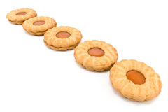 Cookies with apricot jam Royalty Free Stock Photo