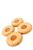 Cookies with apricot jam Stock Photography