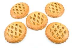 Cookies with apricot jam Stock Photos