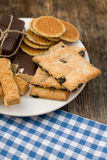 Cookies assortment on the dish Royalty Free Stock Photo