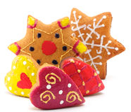Cookies-Asterisks and hearts Royalty Free Stock Photos