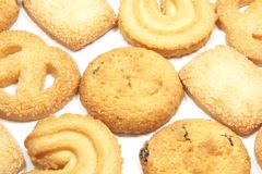 Cookies Background Royalty Free Stock Photos