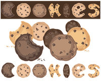 Cookies background Stock Images