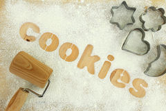 Cookies background Stock Image