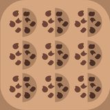 Cookies background royalty free illustration