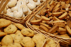Cookies. Baked cookies in baksets inbakery stock photography