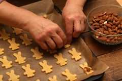 Cookies are baked for the Christmas party.  stock photos