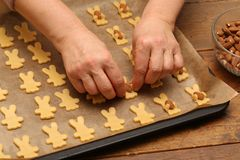 Cookies are baked for the Christmas party.  stock image