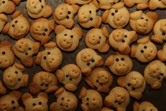 Cookies are baked for the Christmas party.  royalty free stock image