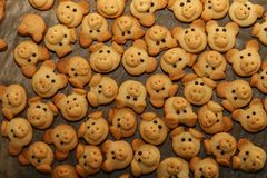 Cookies are baked for the Christmas party.  stock photography