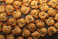 Cookies are baked for the Christmas party.  royalty free stock photo