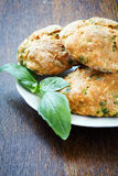 Cookies with basil and parmesan Royalty Free Stock Photo