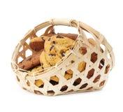 Cookies in basket Stock Image