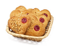 Cookies in a basket Royalty Free Stock Images