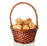 Cookies in a basket Stock Photography