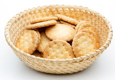 Cookies in a basket Stock Images