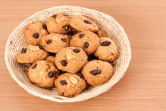 Cookies in basket Stock Photography