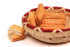 Cookies, baskets Stock Photo