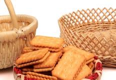 Cookies, baskets Stock Photos