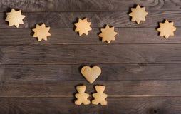 Cookies bears, heart, and stars Stock Photo