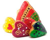 Cookies - Bell and hearts Stock Photography