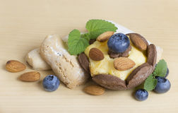 Cookies with berries and nuts Royalty Free Stock Photo