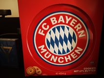 Cookies biscuit FC Bayern stock photo