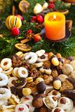 Cookies and biscuits for christmas Royalty Free Stock Images