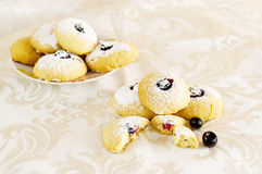 Cookies with blackberry #2 Royalty Free Stock Image