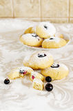 Cookies with blackberry Royalty Free Stock Images