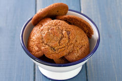 Cookies in bowl Stock Image