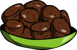 Cookies in a bowl Royalty Free Stock Photo