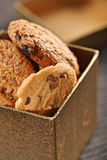 Cookies in box - close-up Royalty Free Stock Photos