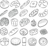 Cookies and breads Stock Images