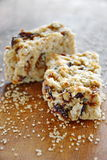 Cookies for breakfast. Breakfast cookies with nuts and raisins royalty free stock image