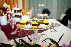 Cookies, cakes and other sweets at a party Royalty Free Stock Photo