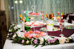 Cookies, cakes and other sweets at a party Stock Image