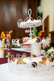 Cookies, cakes and other sweets at a party Royalty Free Stock Photography