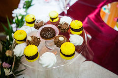 Cookies, cakes and other sweets at a party Royalty Free Stock Photos