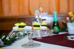 Cookies, cakes and other sweets at a party Stock Photo
