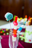 Cookies, cakes and other sweets at a party Stock Photos