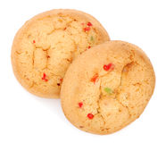 Cookies with candied fruits Royalty Free Stock Photos