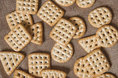 Cookies. On a canvas background Stock Photo