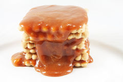 Cookies with caramel Stock Photography