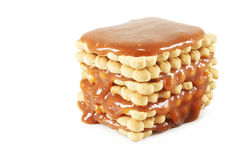 Cookies with caramel Royalty Free Stock Photography