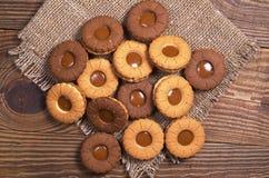 Cookies with caramel Stock Photos