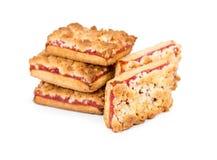Cookies caseiros com doce do fruto Foto de Stock Royalty Free