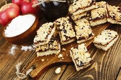 Cookies caseiros com doce do fruto Imagem de Stock
